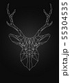 Deer head linear wire ow poly style 55304535