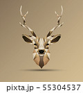 Polygonal low poly deer design 55304537