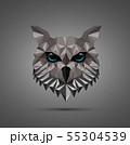 Owl bird low poly design 55304539
