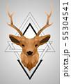 Polygonal low poly deer design 55304541