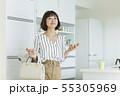 女性 ビジネスウーマン キャリアウーマンの写真 55305969