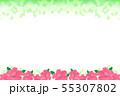 ハイビスカスの花と緑の葉 55307802