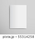 Realistic White Book Mock Up Template Background. 55314258