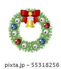 クリスマスリース4(赤リボン) 55318256