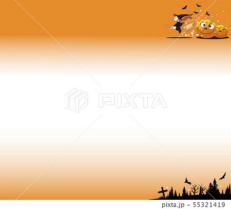 ハロウイーンのオレンジ色の背景 55321419