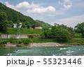 利根川 川風景 上越線 列車 みなかみ町  55323446