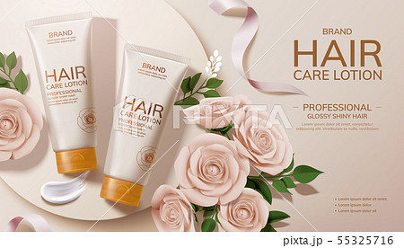 Elegant hair care lotion ads 55325716
