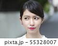 微笑む 日本人女性 55328007