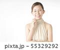 笑顔の女性 55329292