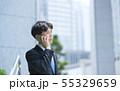 ビジネスマン スマートフォン 55329659