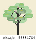 Tree infographic template 55331784