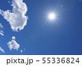 空と雲 太陽 フレア 青空 55336824