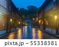 雨の夜の金沢・ひがし茶屋街 55338381