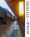 雨の金沢・ひがし茶屋街 55338382