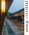 雨の金沢・ひがし茶屋街 55338383