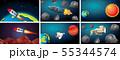 Set of space scenes 55344574