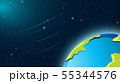 Earth in space scene 55344576