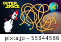 Outer space game background 55344586