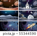 Set of space scenes 55344590