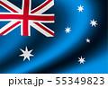 光沢のあるサテン生地風 国旗イラスト (オーストラリア) 55349823