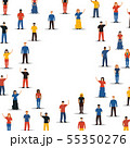 Diverse people group in circle background shape 55350276