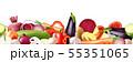Realistic Vegetables Border Composition 55351065