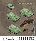 Military Tactics Isometric Background  55353683