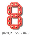 Wooden toy red digital number 8 EIGHT 3D 55353826