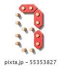 Wooden toy red digital number 7 SEVEN 3D 55353827