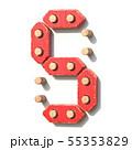 Wooden toy red digital number 5 FIVE 3D 55353829