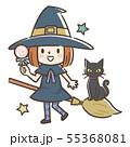 ハロウィン 魔女 55368081