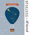 Santa claus on a hot air balloon 55373516