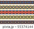 Seamless decorative borders 55374144