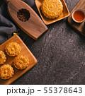 中秋節 月餅 頂視圖 傳統 Mid-Autumn Festival Moon cake げっぺい 55378643