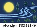 草地を照らす満月(3) 55381349