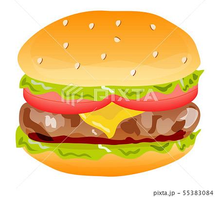ハンバーガー 55383084