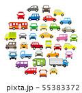 色々な車のサークル状アイコンギャラリー(ポップカラー) 55383372