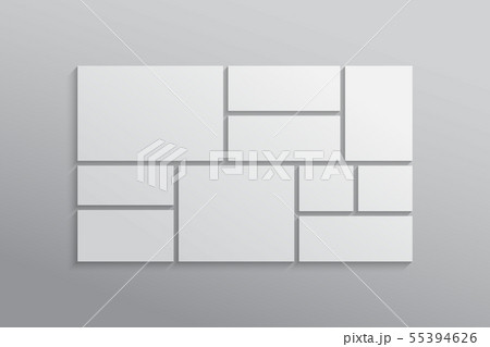 Vector empty collage board ten frames, photo 55394626