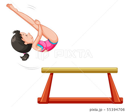 Sporting activity people on white background 55394706