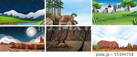 Natural environment lanscape scene 55394758