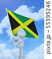 国旗を掲げるジャマイカのスポーツ選手 55395246