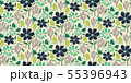 Cutout paper style flower seamless vector pattern. 55396943