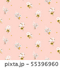 Flowers daisy vintage tender colors seamless vector pattern. 55396960