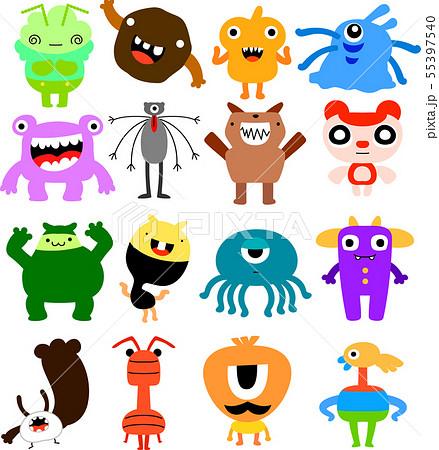 怪物 モンスター かわいい 奇妙な キャラクター イラスト
