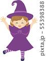 ハロウィンキッズ 魔女 55398388