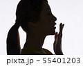 女性 シルエット 55401203