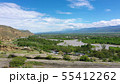 View on the Kura river and Caucasus mountains 55412262