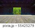 新緑の東京都上野公園内にある東京国立博物館の黒門 55425279