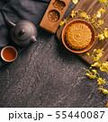 中秋節 月餅 頂視圖 傳統 Mid-Autumn Festival Moon cake げっぺい 55440087