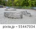 modern metal round garden benches 55447034